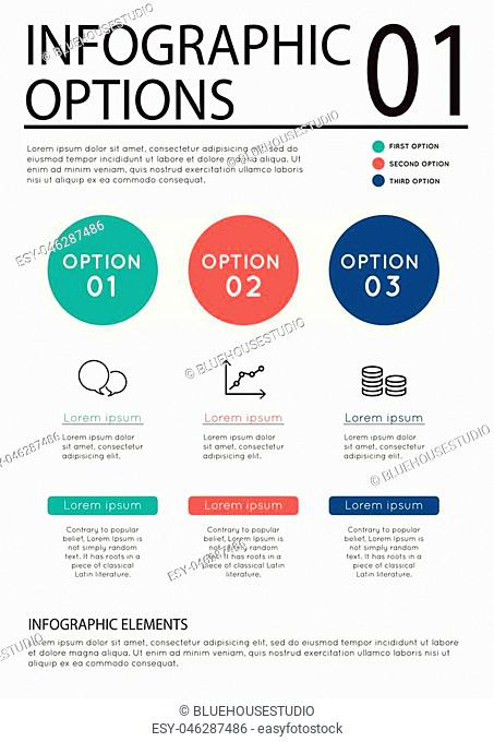 Business infographic template set. Vector illustration