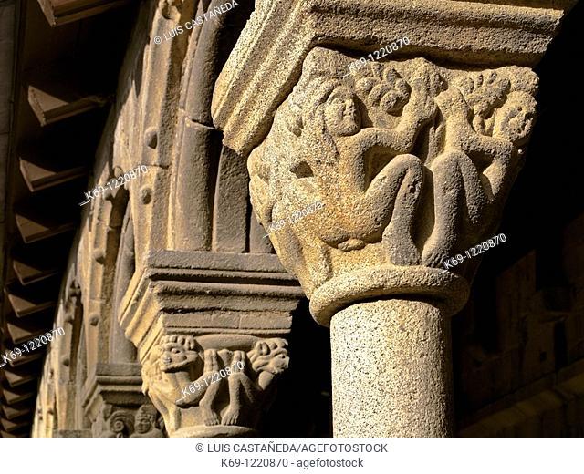 Romanesque Capital  Seu d'Urgell Cathedral  The Cloister Seu d'Urgell  Lleida  Spain