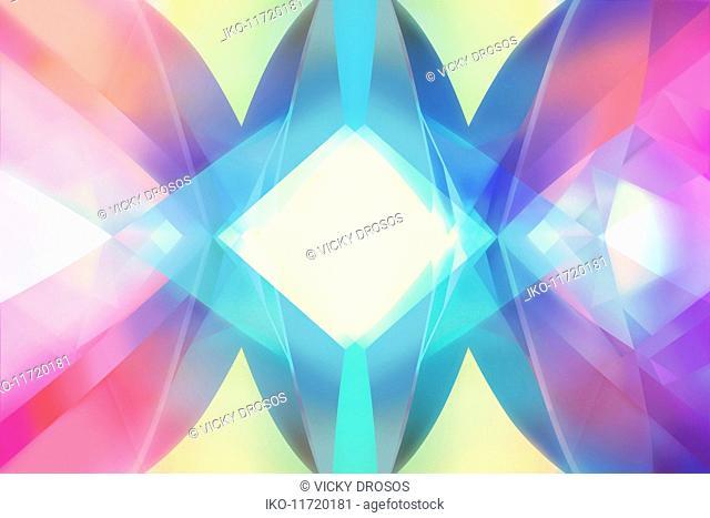 Abstract multicolored kaleidoscope pattern