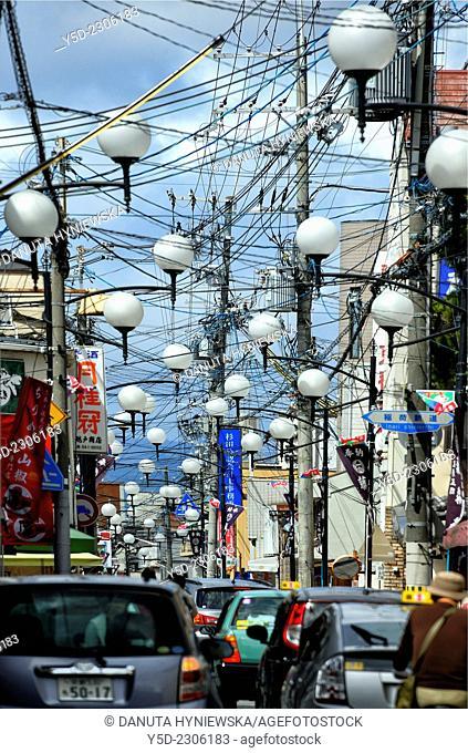 Urban landscape of Fushimi-ku, Kyoto, Kansai Region, Japan