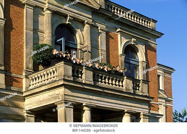Richard Wagner festival house in Bayreuth, Franconia, Bavaria, Germany