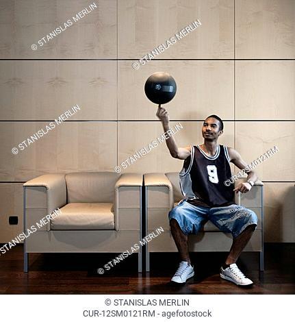 basketball spinner in office