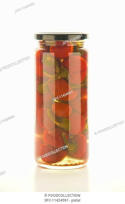 Hot sweet pickled peppers