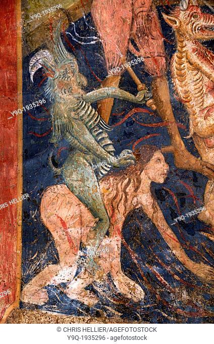 Devil Riding Woman Fresco Chapel des Penitents Blancs La Tour Alpes-Maritimes France