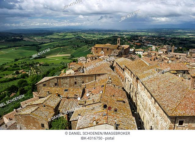 Roofs of Montepulciano, Province of Siena, Tuscany, Italy