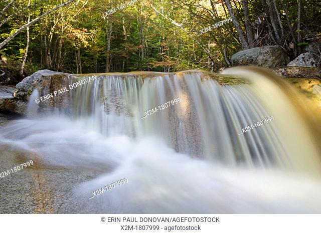 Kancamagus Scenic Byway - Swift River during the late summer months in the White Mountains, New Hampshire USA