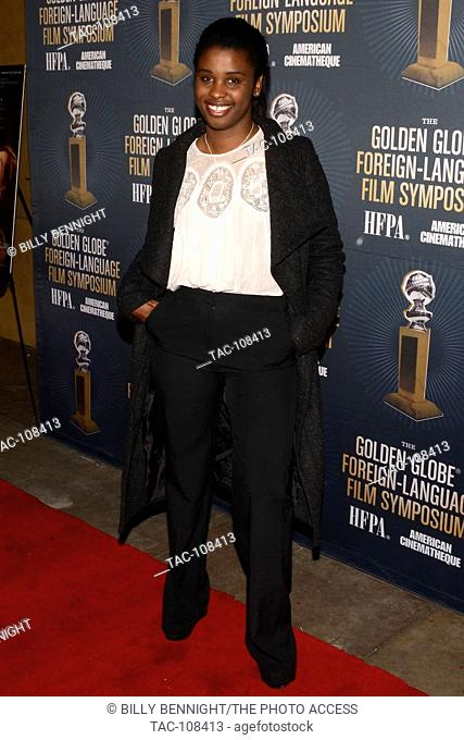 Divines Actress Jisca Kalvanda attends the American Cinematheque Golden Globe Symposium of Foreign-Language Nominated Film with their Directors at the Egyptian...