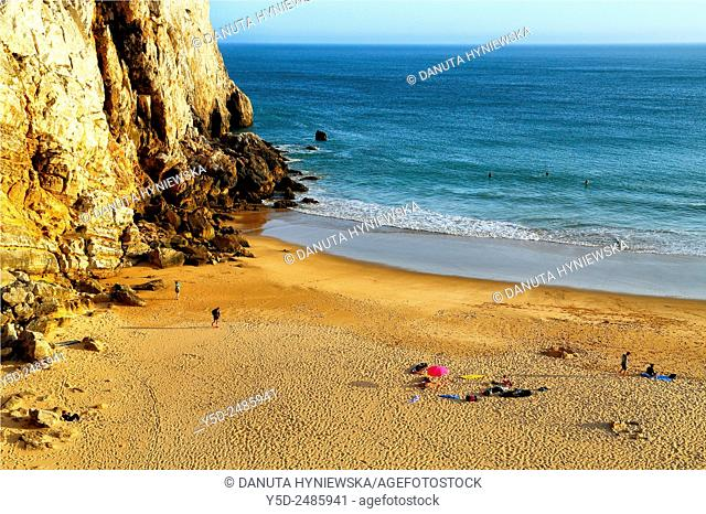 Beliche beach at sunset, Praia do Beliche, Sagres, Algarve, Costa Vicentina, Natural Park of Southwest Alentejo, Portugal