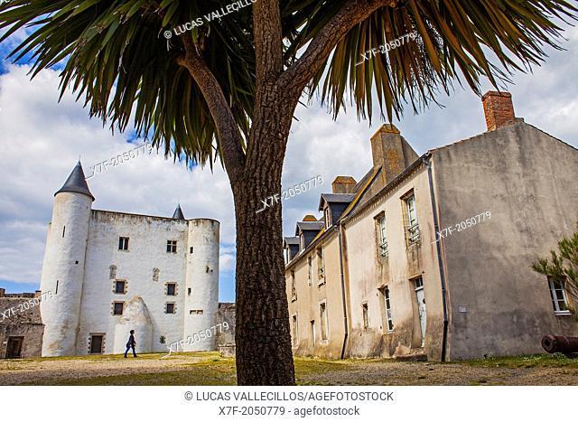 The castle Château de Noirmoutier, Noirmoutier en L'île, Noirmoutier island, La Vendée, Pays de la Loire, France