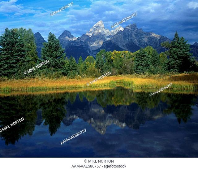 Teton Range & Beaver Pond near Schwabacher Landing, Grand Teton NP, Wyoming
