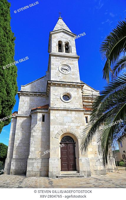 St Michael's Church, Dol, Hvar Island, Croatia, Dalmatia, Dalmatian Coast, Europe