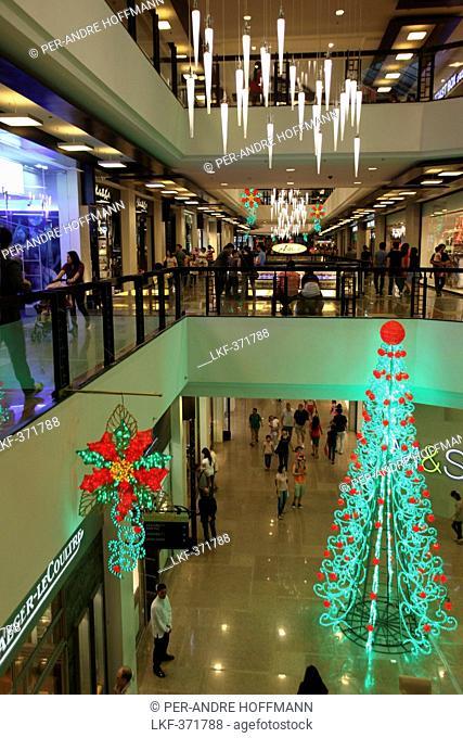 Christmas tree, Greenbelt 5 shopping Mall in Makati City, Manila, Luzon Island, Philippines