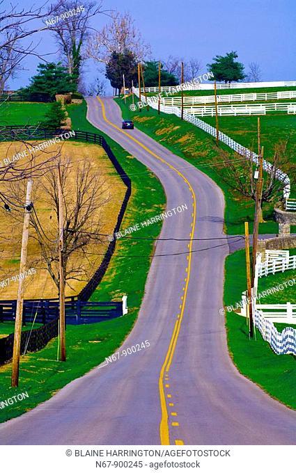 Old Frankfort Pike , Lexington, Kentucky, USA