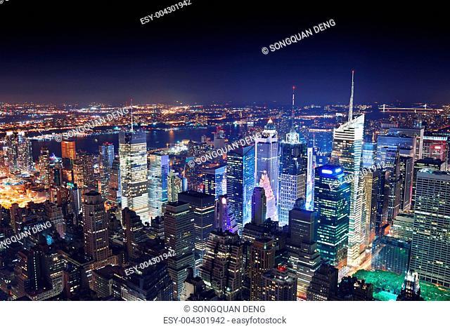 New York City Manhattan at night