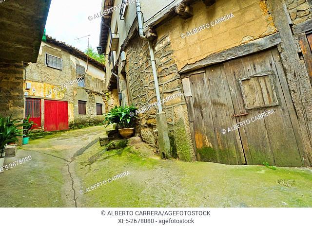 Traditional Architecture, Medieval Town, Historic Artistic Grouping, San Martín del Castañar, Salamanca, Castilla y León, Spain, Europe