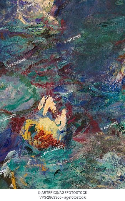 Claude Monet. Les Nymphéas. . XIX th Century. Paris Orangerie Museum
