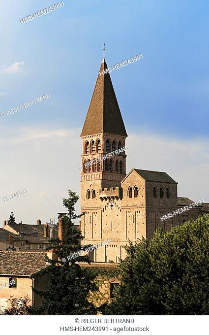 France, Saone et Loire, Tournus, the abbey