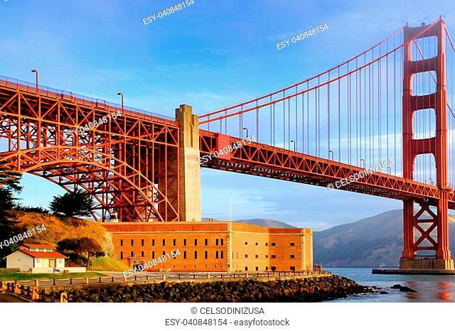 View of the Golden Gate Bridge, San Francisco, California, USA