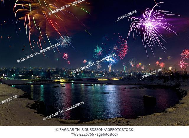Fireworks, New Year's Eve, Reykjavik, Iceland