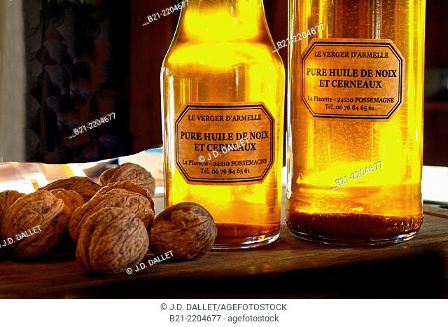 The famed walnut oil from Dordogne, Aquitaine, France