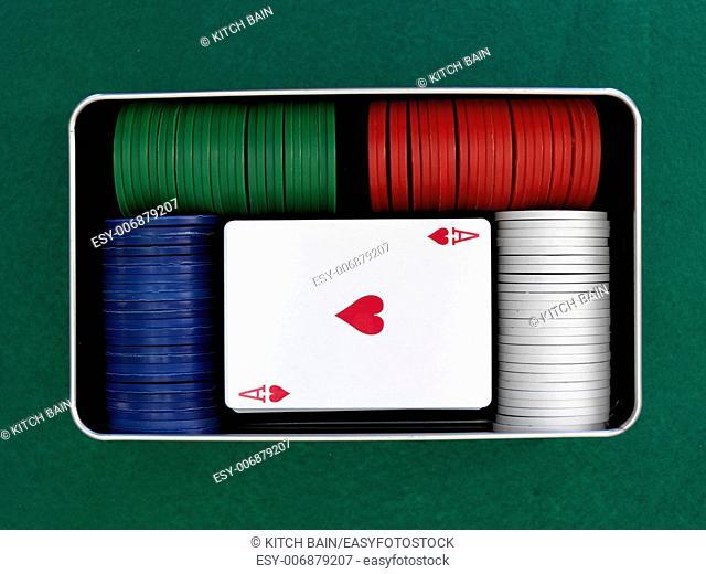 A close up shot of a card game