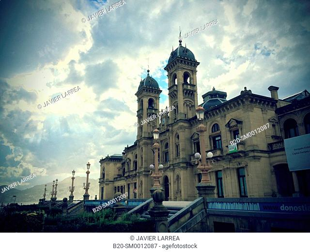 City Hall. Alderdi Eder Park. Donostia. San Sebastian. Gipuzkoa. Basque Country. Spain