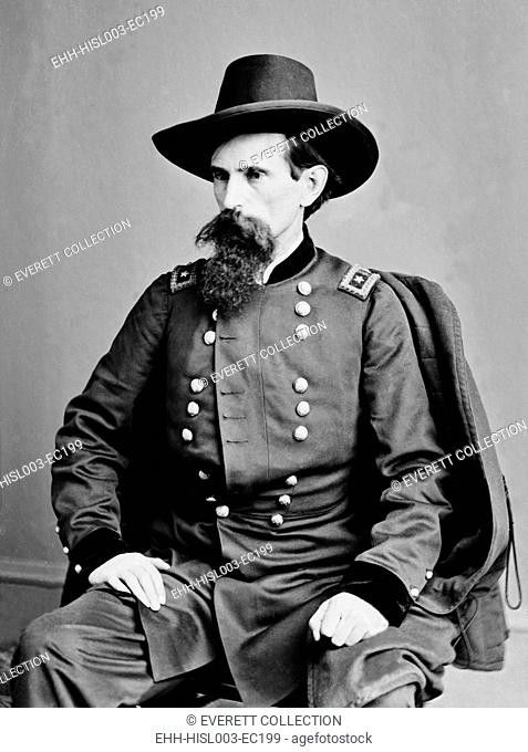 Lew Wallace (1827-1905), American Civil War general wrote the historical classic novel, Ben-Hur, (1880) twice made into a movie, in 1925 and 1959. Ca