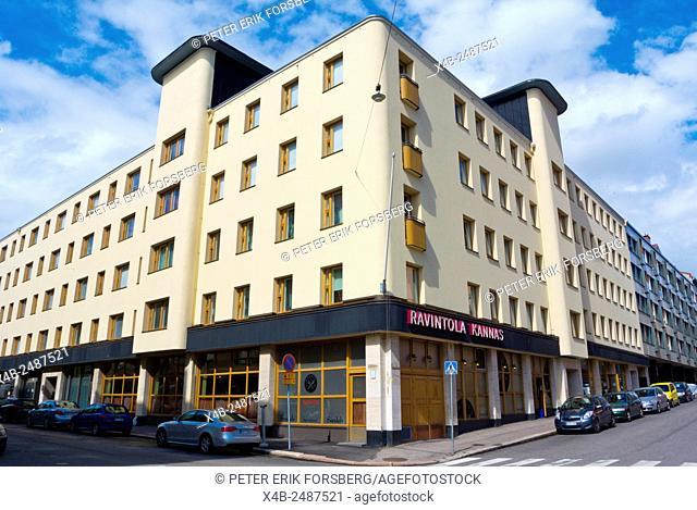 Functionalist architecture from the 1930s, Eerinkinkatu, Hietalahti, Helsinki, Finland, Europe
