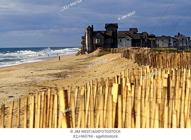 Rodanthe, North Carolina - New homes on the beach on North Carolina's Outer Banks, where they are vulnerable to hurricanes