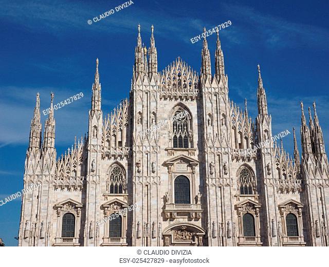 Milan cathedral aka Duomo di Milano gothic church