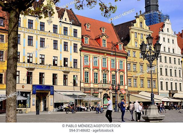 Market square (Rynek) of Wroclaw or Breslau, Poland
