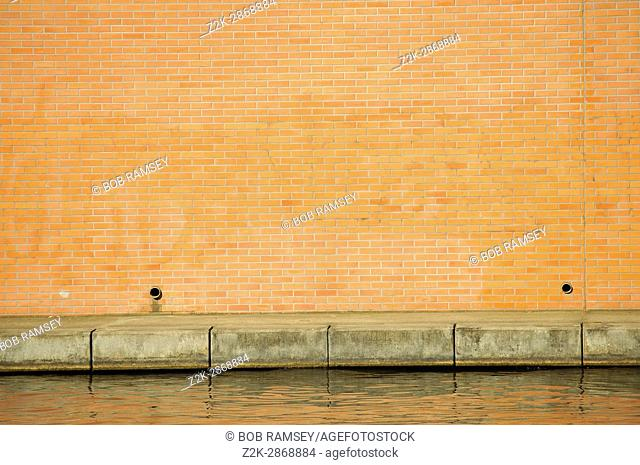 Brick wall in the city of Strasbourg