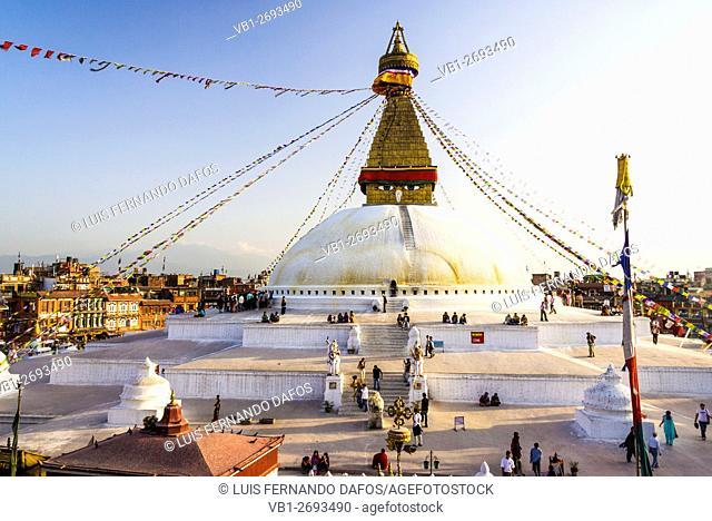 Bodhnath stupa. Kathmandu, Nepal