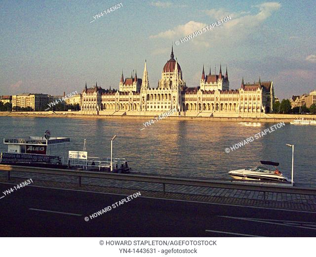 Hungarian Parliament Building and the Danube River Budapest, Hungary