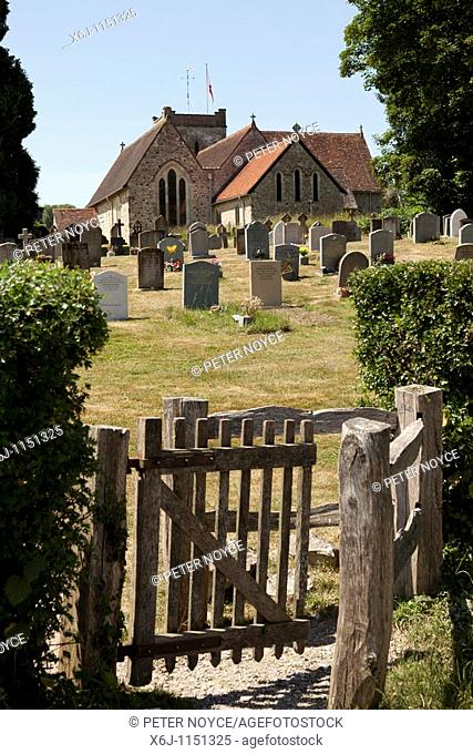 Kissing gate leading to the church and churchyard of St Mary's Church in Selborne