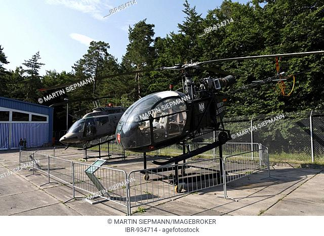 SE 3130 helicopter of the BGS or Bundesgrenzschutz or Federal Border Patrol, at the Point Alpha Border Museum along the former DDR/GDR East German border