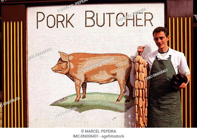Ireland, Dublin, butcher