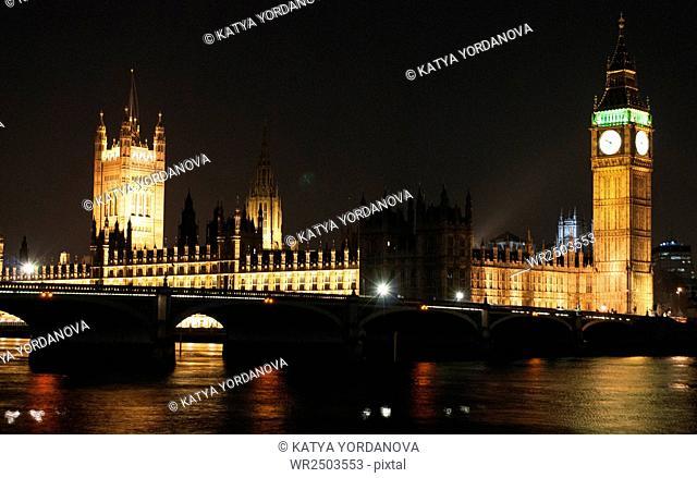 London Night Big-ben