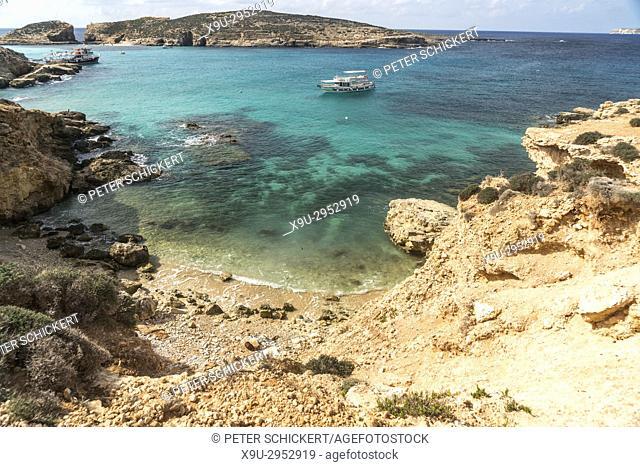 excursion boat, Comino island, Malta