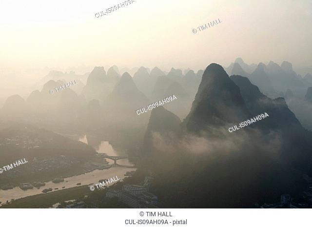 Limestone peaks, Yangshuo, China