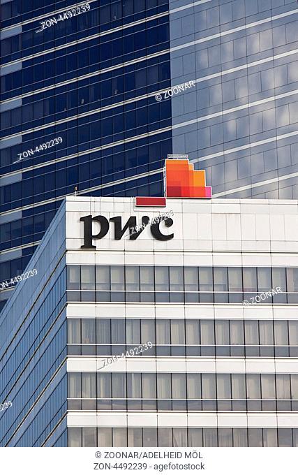 Hochhaus, PWC, Sathorn, Bangkok, Thailand, Südostasien Skyscraper, PWC, Sathorn, Bangkok, Thailand, Southeast Asia