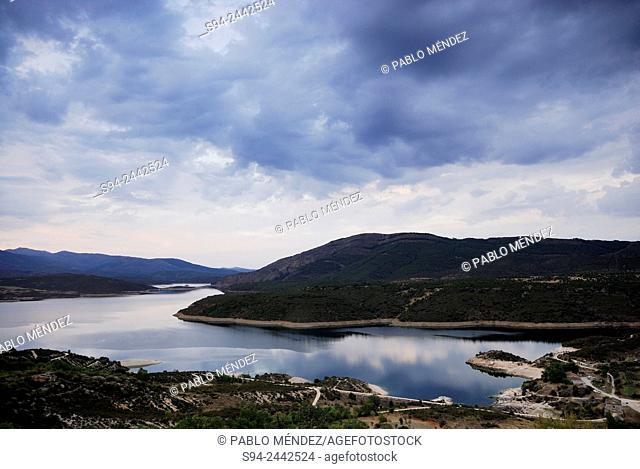 Reservoir of El Atazar in El Berrueco, Madrid, Spain