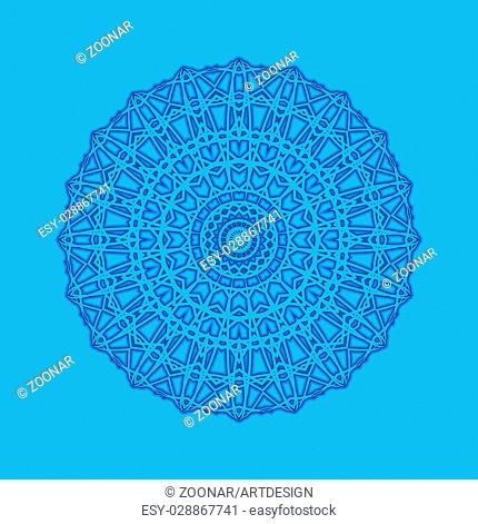 Blue background with abstract round pattern