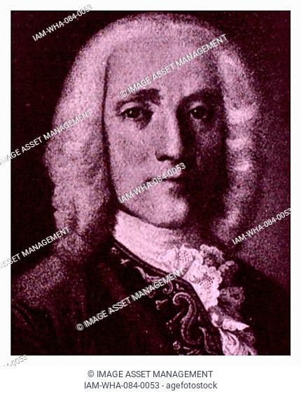 Portrait of Domenico Scarlatti (1685-1757) an Italian Baroque composer. Dated 18th Century