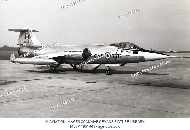 Royal Canadian Airforce Lockheed F-104G Starfighter Cf-104A Parked