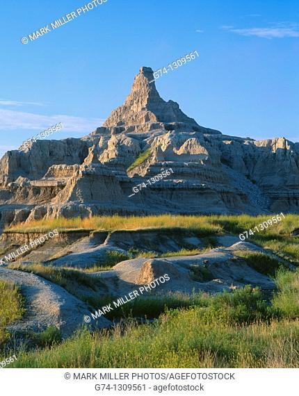 Badlands National Park rock formations, South Dakota, USA