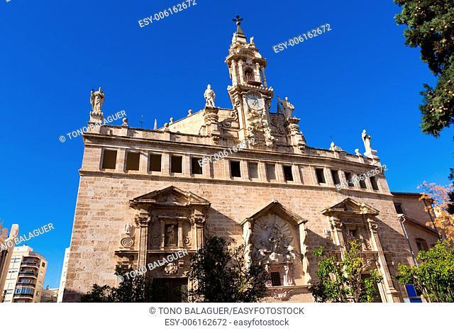 Valencia Santos Juanes church facade in Spain