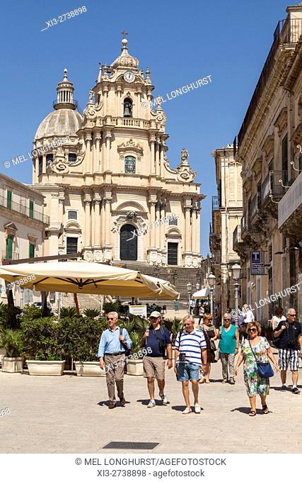 Duomo of San Giorgio, Piazza Del Duomo, Ragusa Ibla, Ragusa, Sicily, Italy