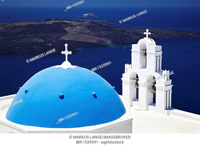 Church of Firostefani, Santorini, Cyclades, Greece, Europe