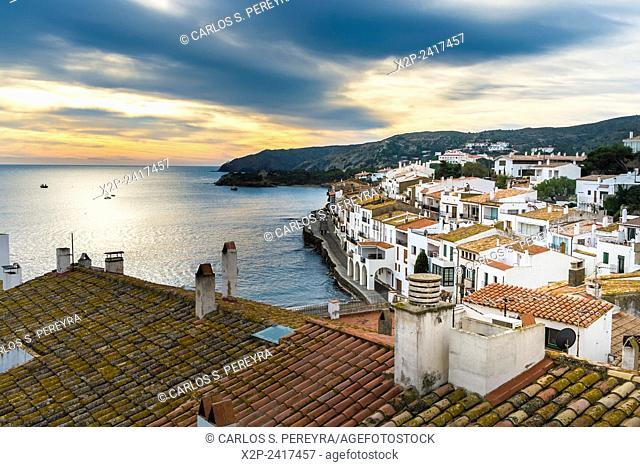 View of Cadaques, an small village in Catalonia, Spain